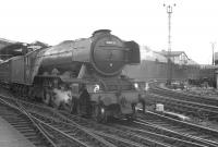 Gresley A3 Pacific no 60039 <I>Sandwich</I> takes the 9.30am Glasgow Queen Street - London Kings Cross out of Newcastle Central on 23 June 1962 [see image 37937].<br><br>[K A Gray&nbsp;23/06/1962]