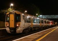 Southeastern emu 375809 calls at Minster on the�penultimate stop on its journey from London to Ramsgate, late in the evening of 31 August 2013.<br><br>[John McIntyre&nbsp;31/08/2013]
