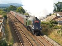 A4 pacific no. 60009 <I>Union of South Africa</I> approaching Clitheroe running some 5 minutes ahead of time with the outward leg of the <I>Cumbrian Mountain Express</I> on 7 September 2013.<br><br>[John McIntyre&nbsp;07/09/2013]