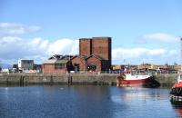 The former G&SWR powerhouse at Troon Harbour in September 2013 [see image 43778].<br><br>[Colin Miller&nbsp;05/09/2013]