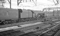 Stanier 'Coronation' Pacific no 46225 <I>Duchess of Gloucester</I>  southbound from Crewe on 10 August 1962 with a Holyhead - Euston train.<br><br>[K A Gray&nbsp;10/08/1962]