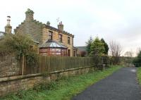 The 1862 former North Eastern Railway station at Knitsley, between Lanchester and Consett, seen here in November 2012. [With thanks to Messrs Taylor, Roberts and Barry]. The station closed to passengers in 1939 but freight continued to pass through until the 1960s. <br><br>[Mark Bartlett&nbsp;27/11/2012]