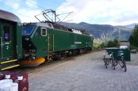 Fl�msbana 172227 with a train at Vatnahalsen on Norway's Flam Railway on 6 September 2013.<br><br>[Bruce McCartney&nbsp;06/09/2013]