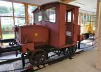 Old battery operated Flamsbana PW locomotive in the museum at Flam in September 2013.<br><br>[Bruce McCartney&nbsp;06/09/2013]