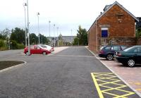 New car park on the east side of Ladybank Station on 13 September 2013. The photograph is taken from the new pathway leading to Number one platform. <br><br>[Brian Forbes&nbsp;13/09/2013]