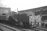 Jubilee 45580 <I>Burma</I> manoeuvering empty stock at Carlisle station on 31 August 1964. The Warrington Dallam (8B) based locomotive had arrived earlier that day with the 6am Warrington - Carlisle train.<br><br>[K A Gray&nbsp;31/08/1964]
