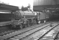 Kingmoor Black 5 no 45323 with a train at Carlisle platform 4, thought to have been photographed on 10 August 1963.<br><br>[K A Gray&nbsp;10/08/1963]