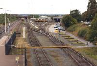 A view from the footbridge at Kirkdale station on 15 September 2013 looking south over Merseyrail's Kirkdale EMU depot. The depot was built on the site of Bank Hall engine shed, which closed in 1966 [see image 22293].<br><br>[John McIntyre&nbsp;15/09/2013]