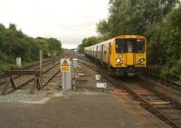 Looking south towards Liverpool city centre on 15 September as Merseyrail 508112 approaches Sandhills station past the turnback siding.<br><br>[John McIntyre&nbsp;15/09/2013]