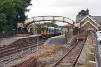 Looking north from the car park at Kirkby Stephen (West) station on 21 September as a Leeds to Carlisle service arrives at the platform.<br><br>[John McIntyre&nbsp;21/09/2013]