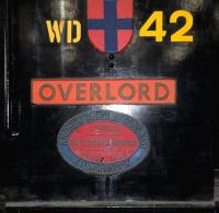 The cabside of a Barclay 0-4-0DM shunter, built for the Army during the war and named <I>Overlord</I> to commemorate D-Day. Photographed in Chatham Dockyard in September 2013. <br><br>[Peter Todd&nbsp;//]