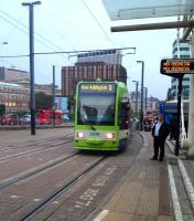 A no 3 tram for New Addington photographed at East Croydon on 25 September.<br><br>[Bruce McCartney&nbsp;25/09/2013]