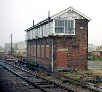 Whitemoor Junction signal box, March, Cambridgeshire, 1985. <br><br>[Ian Dinmore&nbsp;//1985]