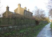 The former Lanchester station in November 2012. Closed to passengers in 1939 but still a private residence. The Consett to Durham line finally closed to freight in 1964. This view looks towards Knitsley and Consett along the cycleway that was later built on the trackbed.<br><br>[Mark Bartlett&nbsp;27/11/2012]