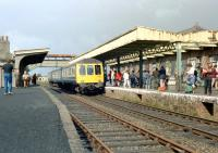 A DMU special at Okehampton on a sunny Saturday 10 August 1985.<br><br>[Ian Dinmore&nbsp;10/08/1985]