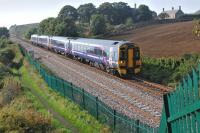 158724 and friend forming the 10.36 from Edinburgh to Perth on 28 September. Photographed nearing the former Seafield Colliery connection south of Kirkcaldy.<br><br>[Bill Roberton&nbsp;28/09/2013]