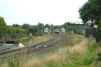 Resignalling at Cosford in September 2006. View is south east towards Wolverhampton.<br><br>[Ewan Crawford 15/09/2006]