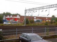 Stafford's former steam shed (5C) was split into industrial units after closure in July 1965, but has now become Stafford College Technology Centre. Various signs saying 'Private Property' discouraged me from taking a closer look.<br><br>[Ken Strachan&nbsp;02/10/2013]