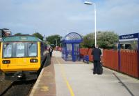 The 13.44 service to Colne waiting to leave Blackpool South on 24 September.<br><br>[Veronica Clibbery&nbsp;24/09/2013]