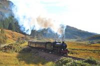 In brilliant sunshine on 30 September, K1 No.62005 picks up speed on the steady climb up to the summit west of Glenfinnan with <I>The Jacobite</I> bound for Mallaig.<br><br>[John Gray&nbsp;30/09/2013]