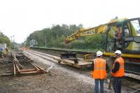Tracklaying at Brundall in November 2006.<br><br>[Ian Dinmore&nbsp;/11/2006]