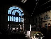 Part of the interior of Budapest Keleti station, photographed on 3 October 2013. [See image 44902]<br><br>[John Yellowlees&nbsp;03/10/2013]
