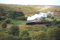 B1 61002 crossing the moors on 5 October with a train near Goathland.<br><br>[Peter Todd&nbsp;05/10/2013]