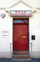 Entrance to the RSAS Barassie Works Club in Shore Street, Troon, on 5 September 2013. [See image 43927]<br><br>[Colin Miller&nbsp;05/09/2013]