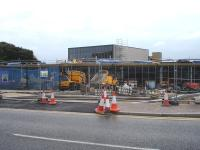 The road entrance to the new Wakefield Westgate main station building under construction on 15 October 2013. <br><br>[David Pesterfield&nbsp;15/10/2013]