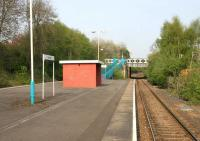 The bleak platform view at Dunston in May 2006 looking west towards Metro Centre.<br><br>[John Furnevel&nbsp;09/05/2006]