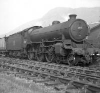 The branch goods at Aberfoyle station, thought to have been taken in late 1958. The locomotive is B1 4-6-0 no 61118.<br><br>[John Robin&nbsp;//1958]