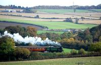 GNR N2 1744 nearing Manuel on 20 October with a train from Boness.<br><br>[Bill Roberton&nbsp;20/10/2013]