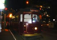 The <I>Colonial Tramcar Restaurant</I> (converted W class) trundles round the network in Melbourne during the evenings serving up rather good food and drinks. Photographed at the pick-up point on 4 October 2008.<br><br>[Colin Miller&nbsp;04/10/2008]