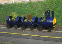 ScotRail's latest barrel-train at Musselburgh Station has been adopted by Musselburgh Rotary to mark the 25th anniversary of the station's opening on 1 October 1988.<br><br>[John Yellowlees&nbsp;24/10/2013]