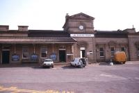 Frontage of Wakefield Kirkgate station in April 1990.<br><br>[Ian Dinmore&nbsp;/04/1990]