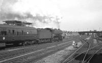 K3 2-6-0 61985 leaves Doncaster on 1 September 1962 with the 7.55am Leicester Central - Scarborough.<br><br>[K A Gray&nbsp;01/09/1962]