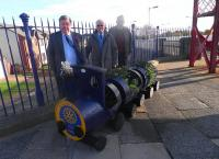 Monifieth Rotary have adopted Monifieth Station with a barrel-train so as to mark additional calls there from 9 December by the 0453 Inverness-Edinburgh, 1611 Glasgow-Arbroath, 1819 Arbroath-Edinburgh and 2141 Glasgow-Aberdeen.<br><br>[John Yellowlees&nbsp;29/10/2013]