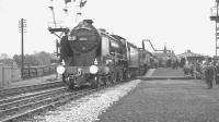 The RCTS <I>East Midlander No 5</I> railtour, photographed at Church Fenton on 13 May 1962. Schools class 4-4-0 no 30925 <I>'Cheltenham'</I> + Fowler 2P 4-4-0 no 40646 had paused here to take on water during the journey from Nottingham Victoria to Darlington Bank Top.<br><br>[K A Gray&nbsp;13/05/1962]