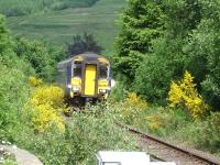 156457 leads unit 156474 round the final curve before entering Crianlarich Station on the 10.10 ex Mallaig to Glasgow Queen Street service on 26 June 2013. <br><br>[David Pesterfield&nbsp;26/06/2013]