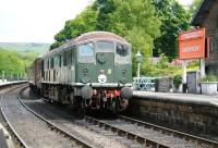 D5061 awaits its turn at Grosmont station on the morning of 6 June 2013.<br><br>[John Furnevel&nbsp;06/06/2013]