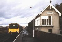 A dull, wet and generally miserable day at Gainsborough Lea Road station on 12 October 1988 as 150126 calls with a Doncaster - Lincoln Central service.<br><br>[Ian Dinmore&nbsp;12/10/1988]