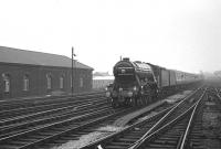 <I>The Moorlands Rail Tour</I> from Liverpool Lime Street approaching Carlisle on 26 October 1968 behind A3 Pacific 4472 <I>Flying Scotsman</I>.<br><br>[K A Gray&nbsp;26/10/1968]