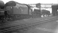 Stanier Coronation Pacific 46253 <I>City of St Albans</I> stands in the shed yard at Upperby in the summer of 1962. The locomotive was a visitor from Crewe North, from where it was withdrawn in January the following year.<br><br>[K A Gray&nbsp;07/05/1962]