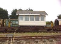 This signal box was formerly located at Kennett. As it is currently sitting on a low loader wagon, it could well move again soon - at least to the end of the siding!<br><br>[Ken Strachan&nbsp;20/07/2013]