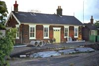 The former Midland & Great Northern Joint station at Stalham on May 15th 1976. Closed in 1959, it was in use as a council depot at the time of this photo. After the depot closed, the building was salvaged by the North Norfolk railway and re-erected at its Holt terminus.<br><br>[Mark Dufton&nbsp;15/05/1976]