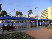 The second of the Antalya tram routes [see image 45361] is the older Nostaljik, seen here on 18 November. The vehicles used formerly operated on the Nuremberg tram system. <br><br>[John Yellowlees&nbsp;18/11/2013]