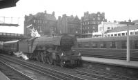 St Margarets A3 Pacific no 60052 <I>Prince Palatine</I> arrives at the north end of Carlisle on 25 July 1964 with the 9.50am Edinburgh Waverley - Leeds City. [See image 24718]<br><br>[K A Gray&nbsp;25/07/1964]