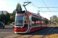 One of the modern Pesa Twist units in operation on the Czestochowa Tramway in August 2013.<br><br>[Colin Miller&nbsp;13/08/2013]
