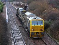 Network Rail MPV DR 98906 heads west through a dreich Breich on 26 November.<br><br>[Bill Roberton 26/11/2013]