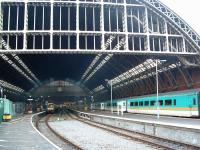 St Pancras at an early stage of renovation in 2003. The construction of the new part of the station had just begun out of view to the left.<br><br>[Ewan Crawford&nbsp;13/01/2003]